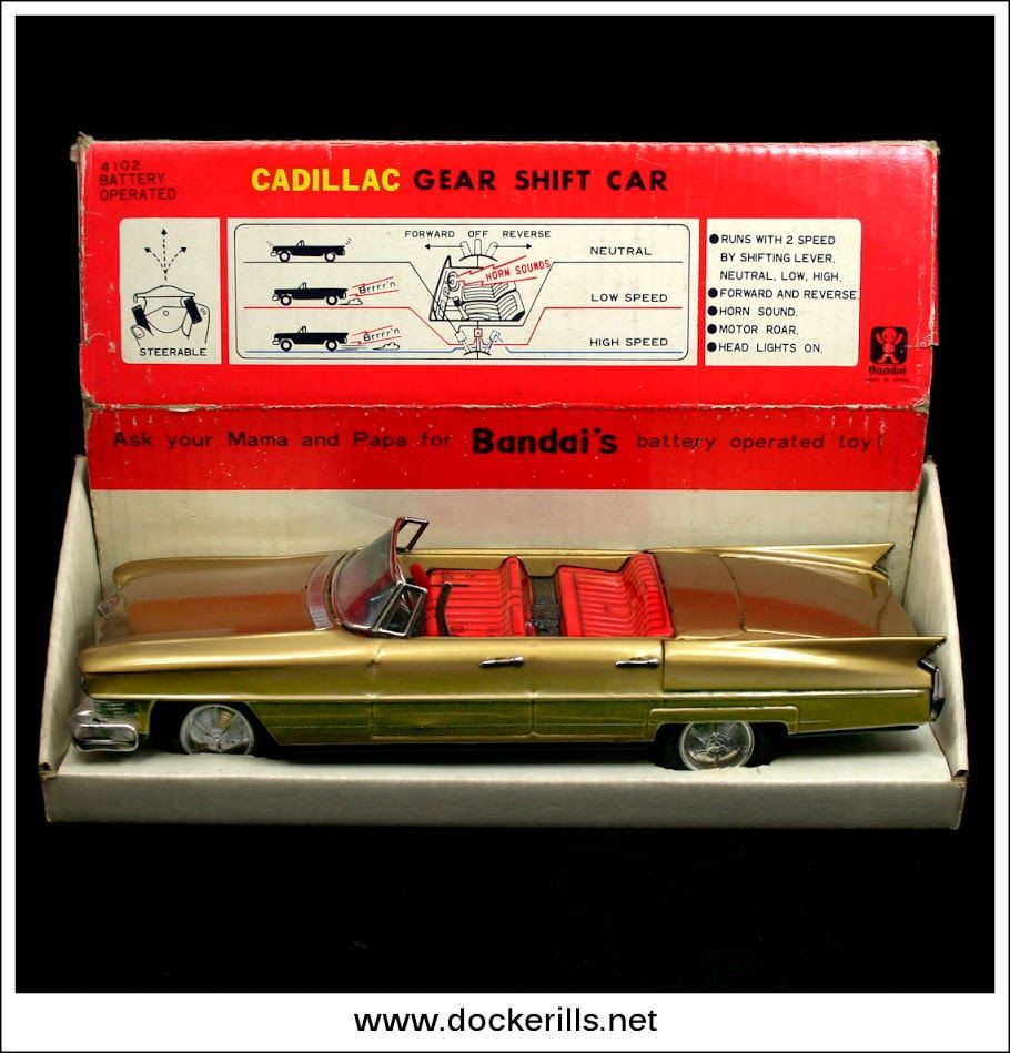 Cadillac Gear Shift Car Bandai Japan Photo 1 Of 4 Vintage Tin