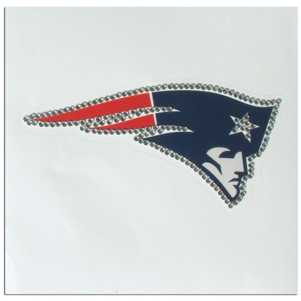 New England Patriots Vinyl Bling Decal FBRD120 New