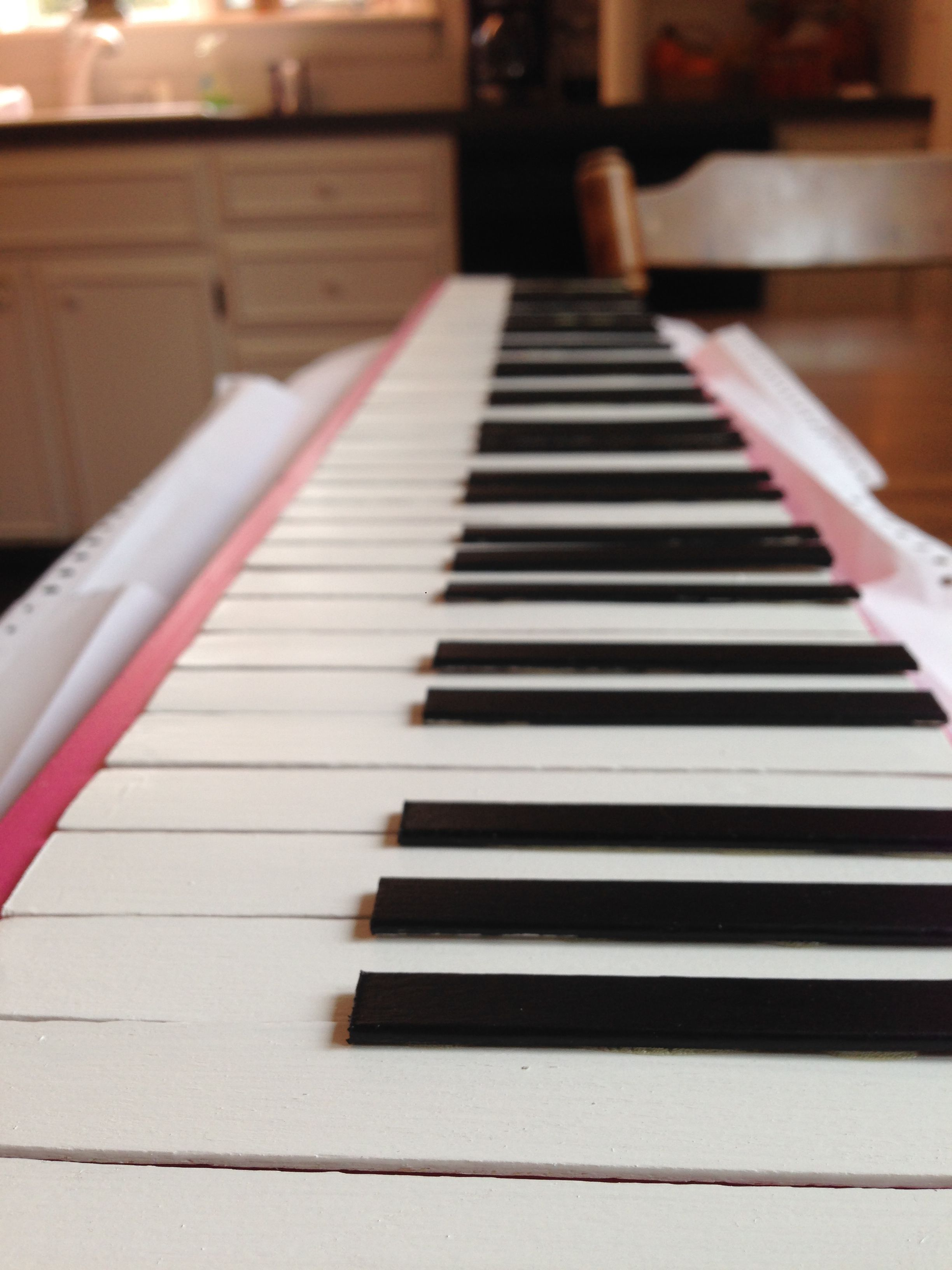 Popsicle Sticks And Tongue Depressors Used To Make Piano Keys