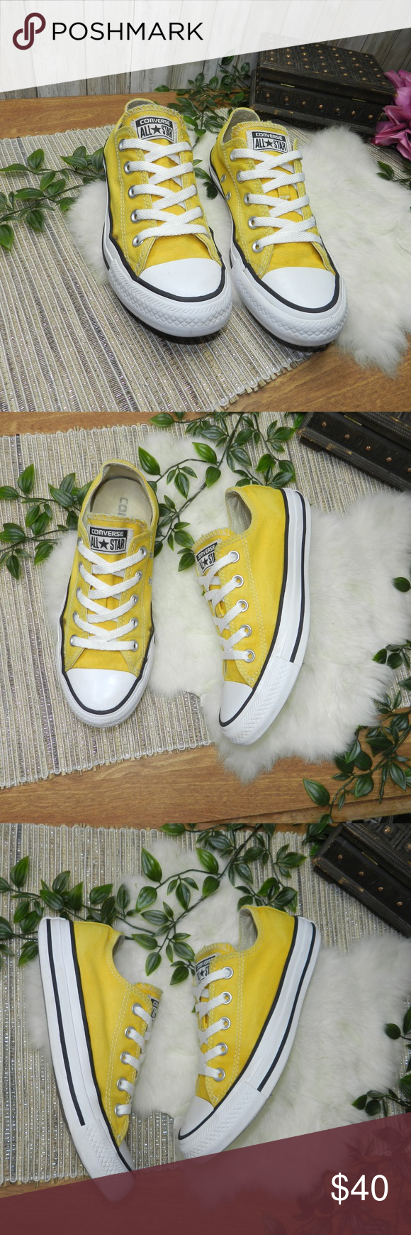 Yellow sneakers, Converse chuck taylor