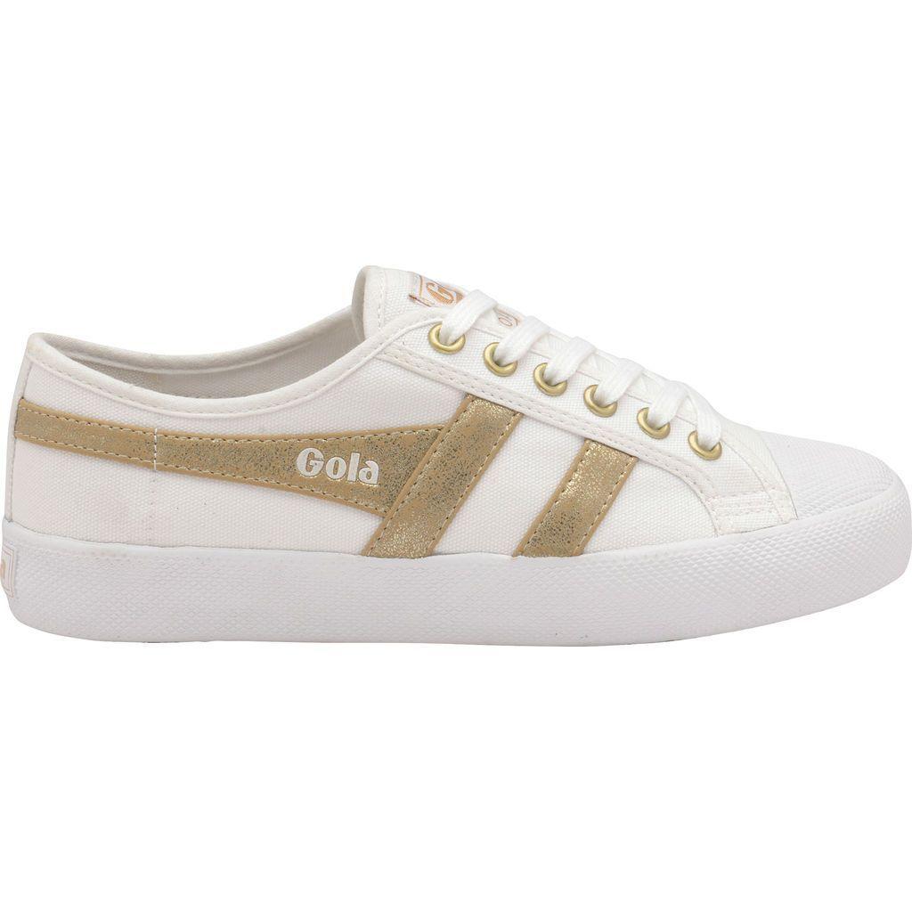 Coaster Mirror Sneakers   White/Gold
