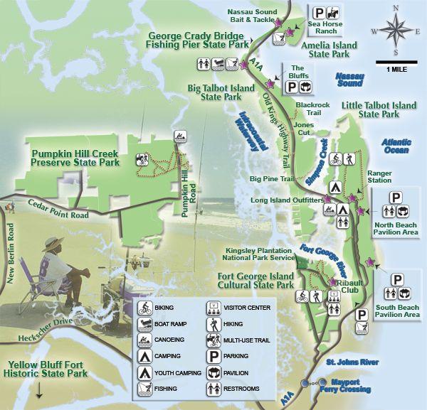 Fgi Map Jpg 600 577 Amelia Island State Park Amelia Island Florida State Parks