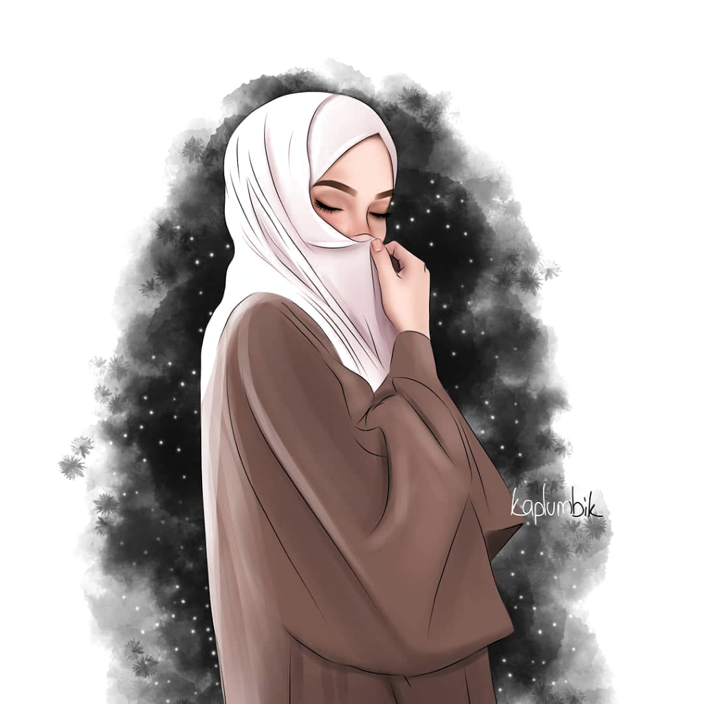 Night Themed Dijital Drawing Anime Hijab Girl Di 2020 Gadis Animasi Lukisan Wajah Ilustrasi Orang