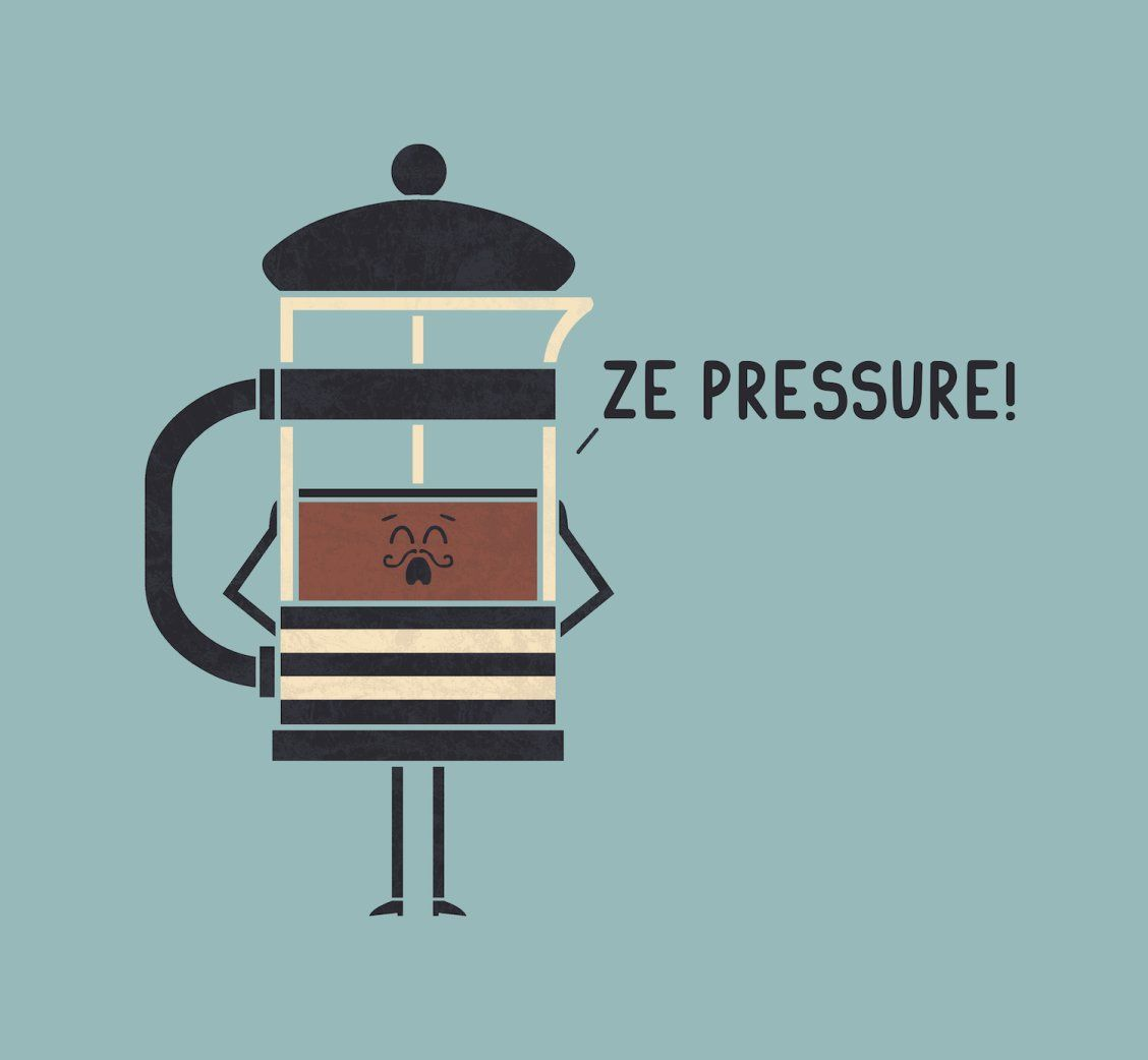"""French Press"" Art by Teo Zirinis on Society6 