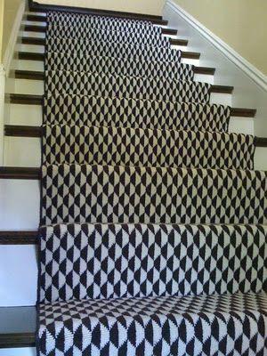 Geometric Stair Run Monochrome