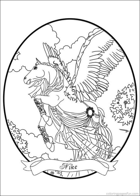 Bella Sara The Magical Horse Coloring Pages 3 Free Printable