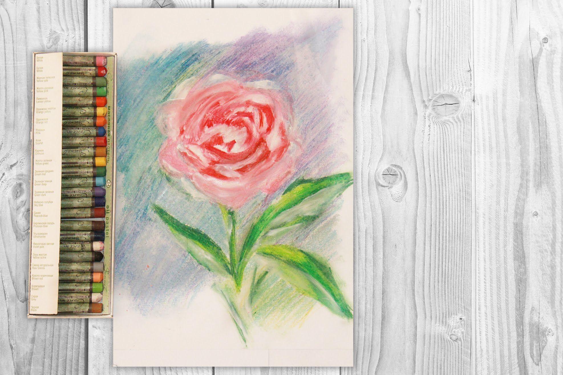 Как нарисовать открытку пастелью