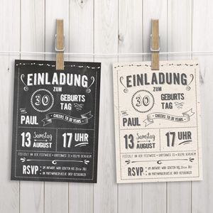 Chalkboard Design: 17 Kostenlose Fonts, Neue Geburtstagsposter Und  Einladungen Im Retrostil. Geburtstag ...