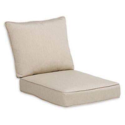 Destination Summer 23 Outdoor Deep Seat Chair Cushion In Beige