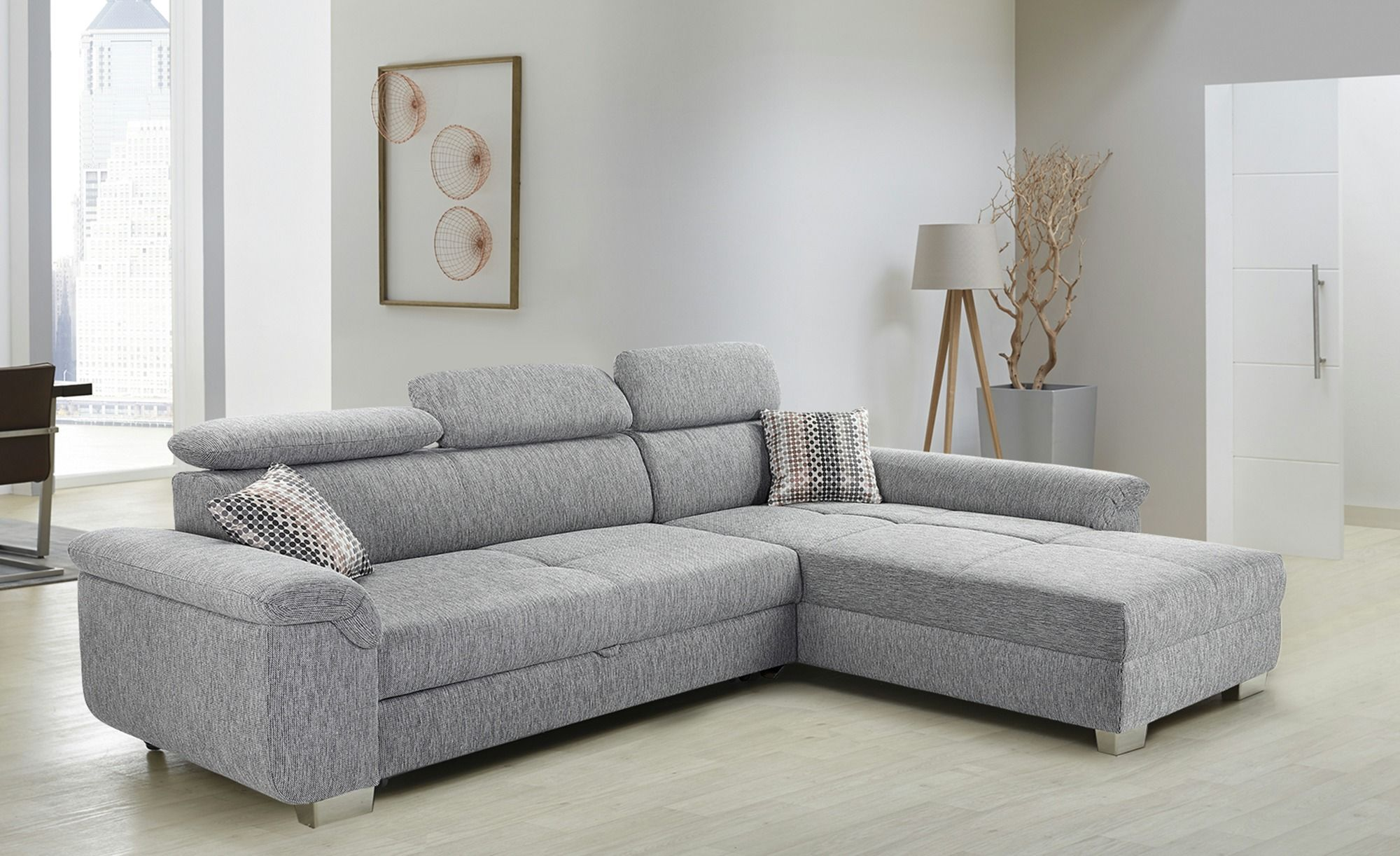 Opti Ecksofa Ecksofa Grau Webstoff Liya In 2019 Products Sofa Furniture