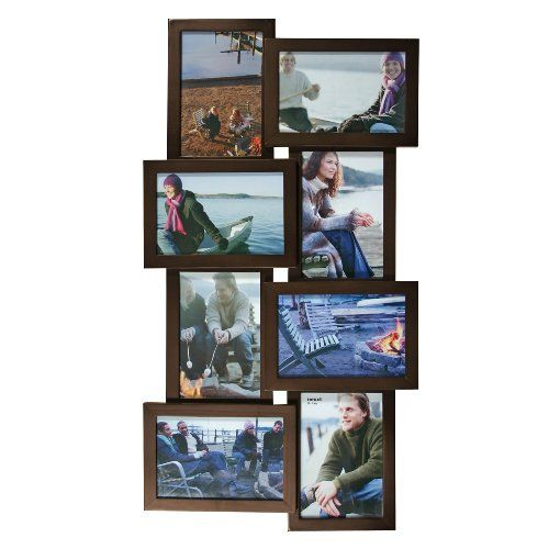 Nexxt Array Collage Wall Frame Holds Eight 4 Inch By 6 Inch Photos Espresso Nexxt Picture Frame Wall Picture Frame Sets Frames On Wall