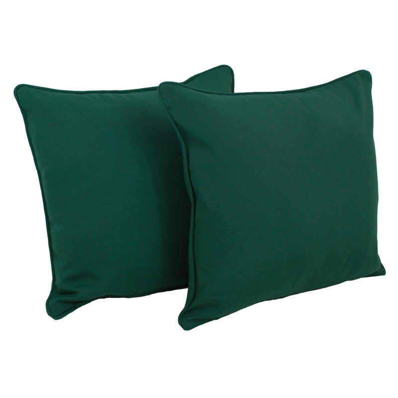 Weymouth Indoor Outdoor Throw Pillow Reviews Allmodern Throw Pillows Green Throw Pillows Solid Throw Pillows
