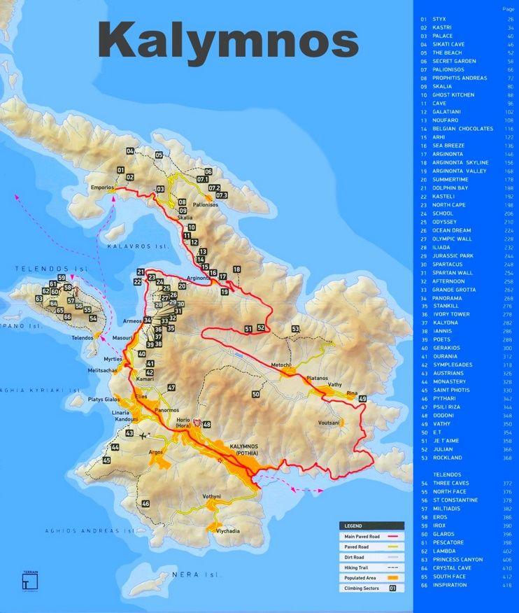 Kalymnos tourist attractions map Maps Pinterest Greece islands
