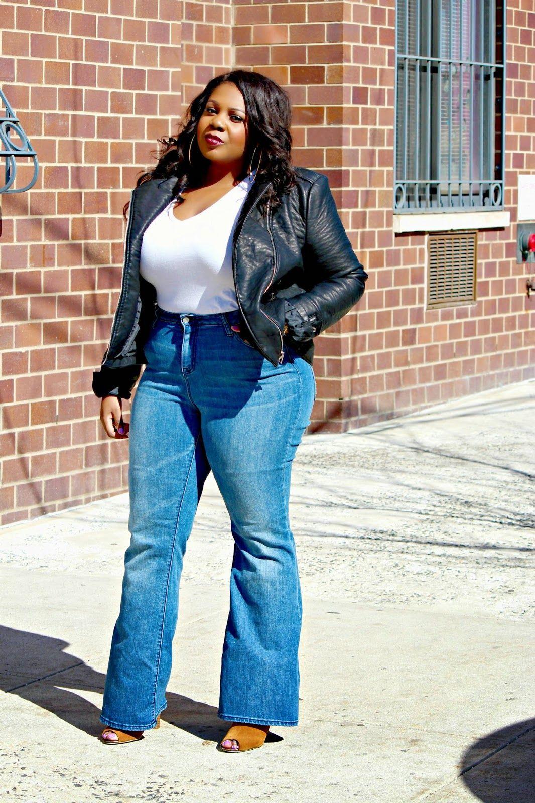 Plus Size Fashion - Plus Size Flare Jeans | Plus Size Fashion ...