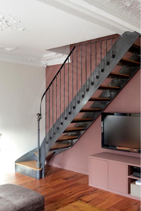 Escalier Tournant Dt99 Quart Tournant Bas Avec Images Escalier Idees Escalier Escalier Tournant