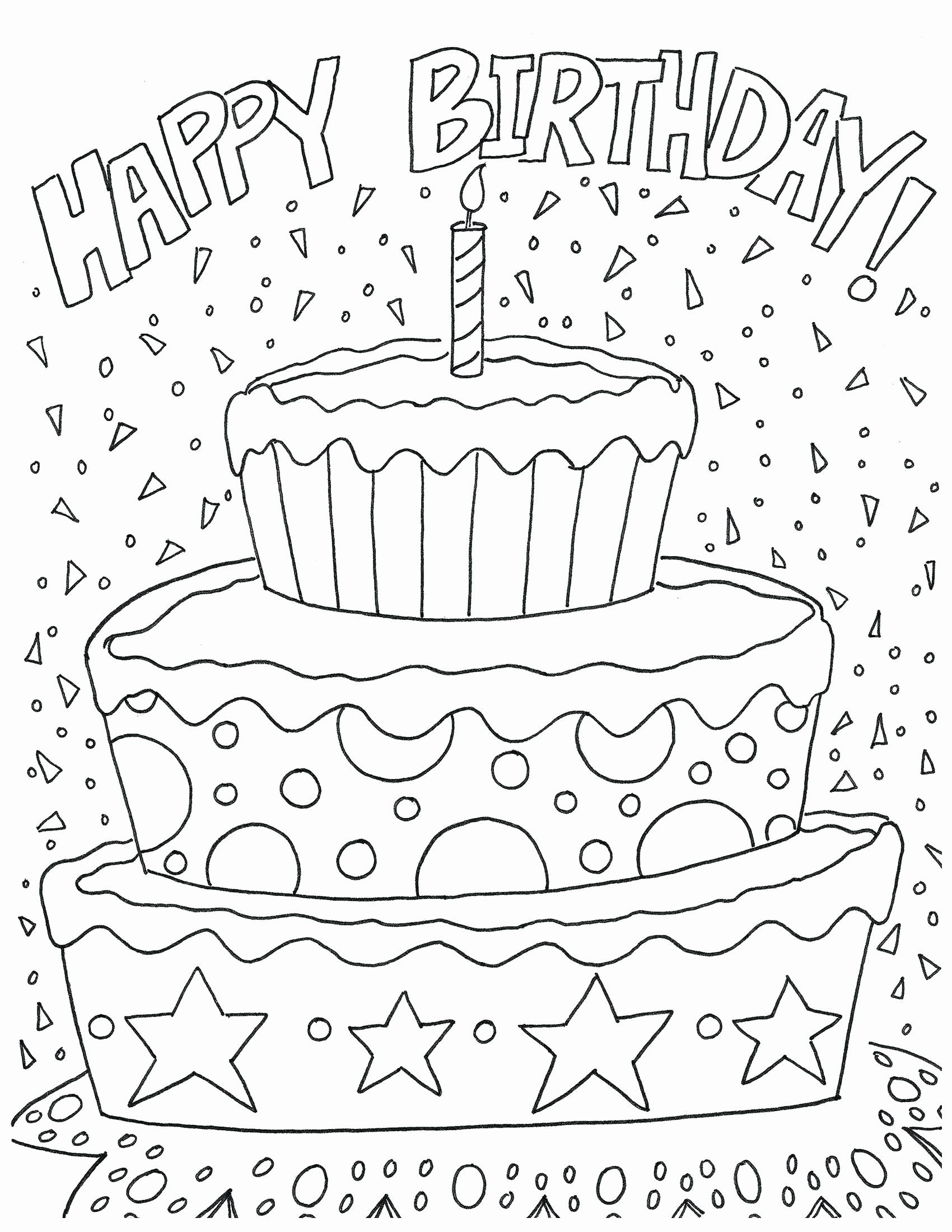 Happy Birthday Adult Coloring Pages In 2020 Coloring Birthday