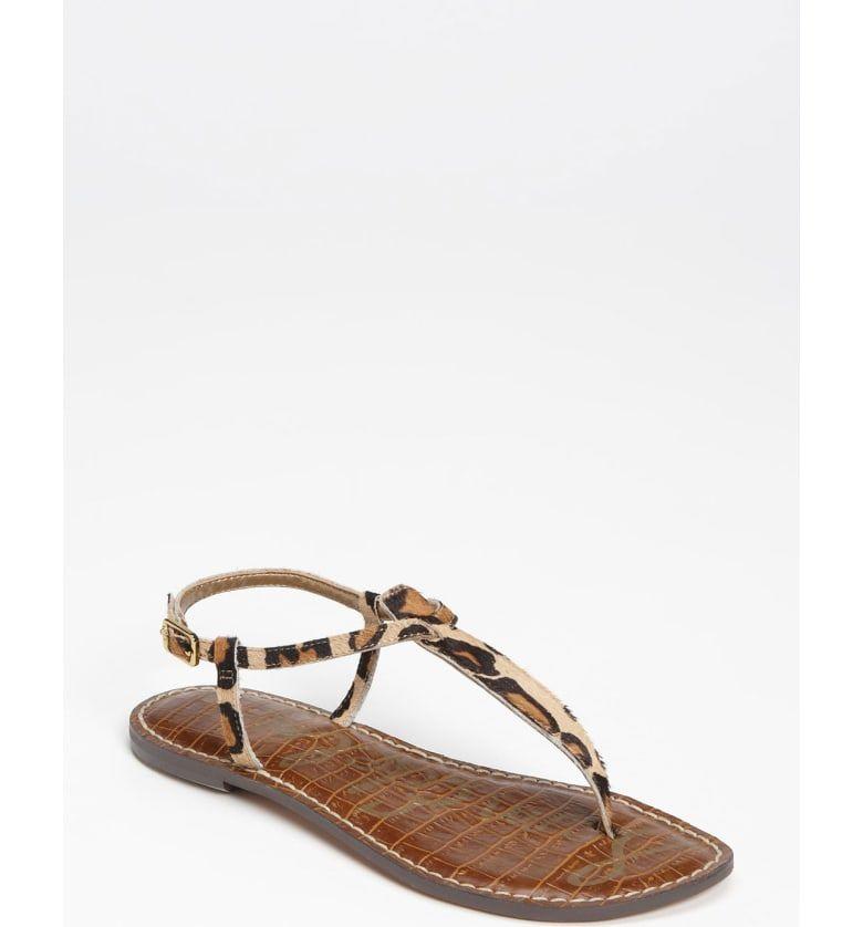 Sam Edelman Gigi Sandal Women Sam Edelman Gigi Leopard Print Shoes Ankle Strap