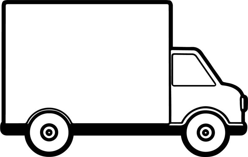 Truck Delivery Coloring Page