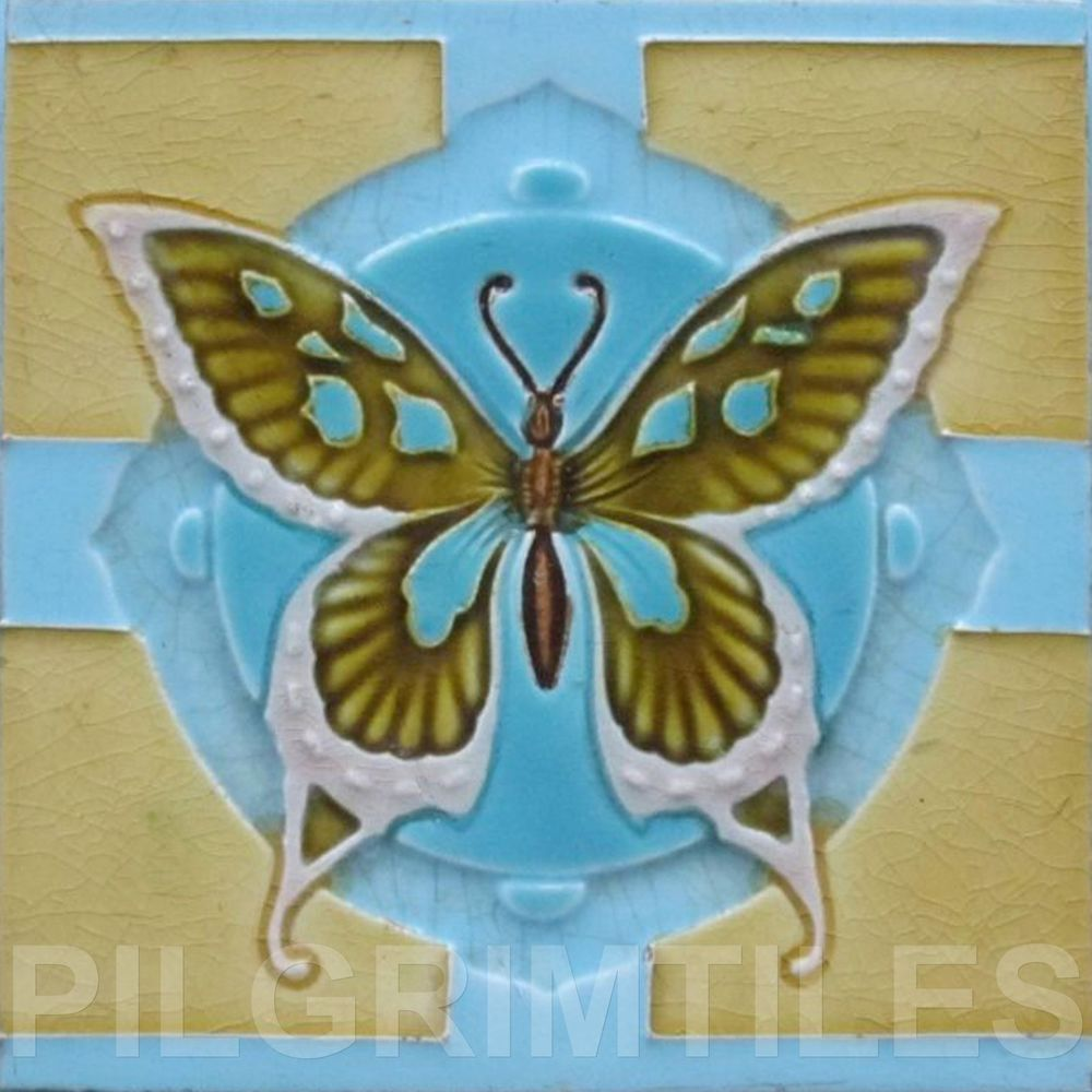Arts & Crafts Style Butterfly Tiles Fireplace Kitchen Bathroom ...