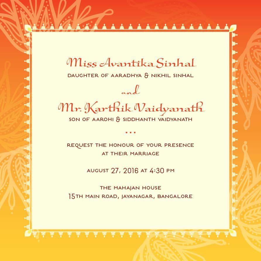 Most Popular Wedding Invitations: Most Popular Invitations Lotus Tapestry Saffron Wedding