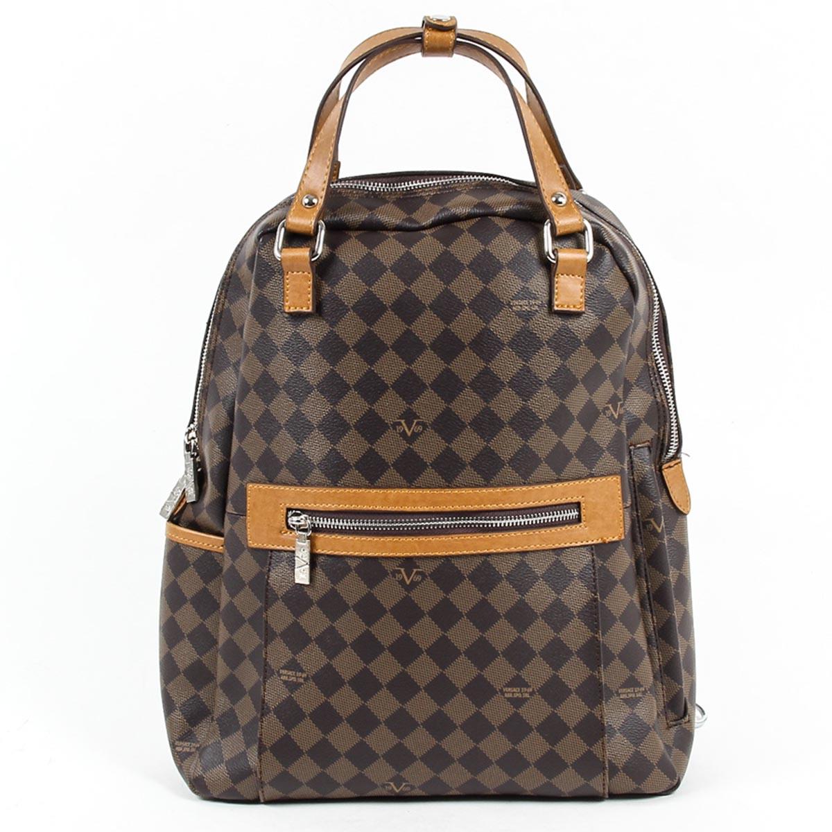 403b1f0883a V 1969 Italia Mens Fashion Backpack V1969016 COFFEE TABA