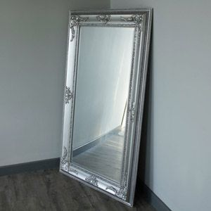 Large Ornate Silver Bevelled Wall Floor Mirror Mirror Candle Sconce Mirror Large Candle Sconces