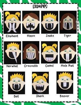 amazing animal teeth science teeth kindergarten writing dental health. Black Bedroom Furniture Sets. Home Design Ideas