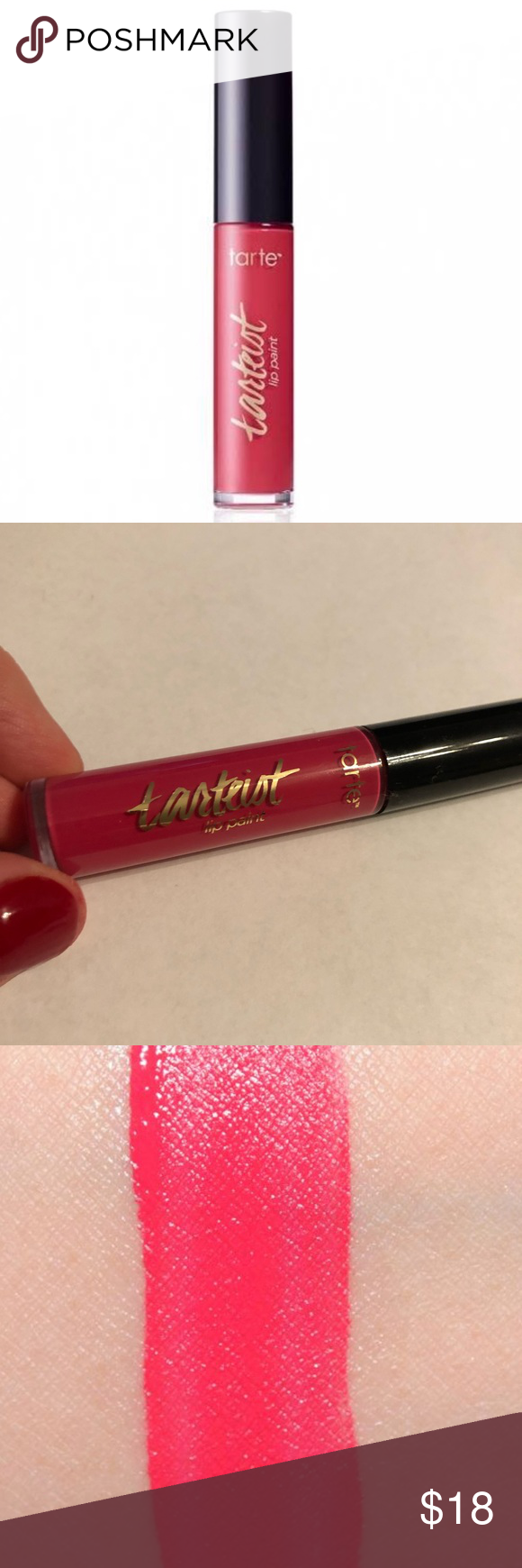 Photo of Tarte Tarteist Lip Paint In Selfish This was used for one swatch. From Tarte: Pa…