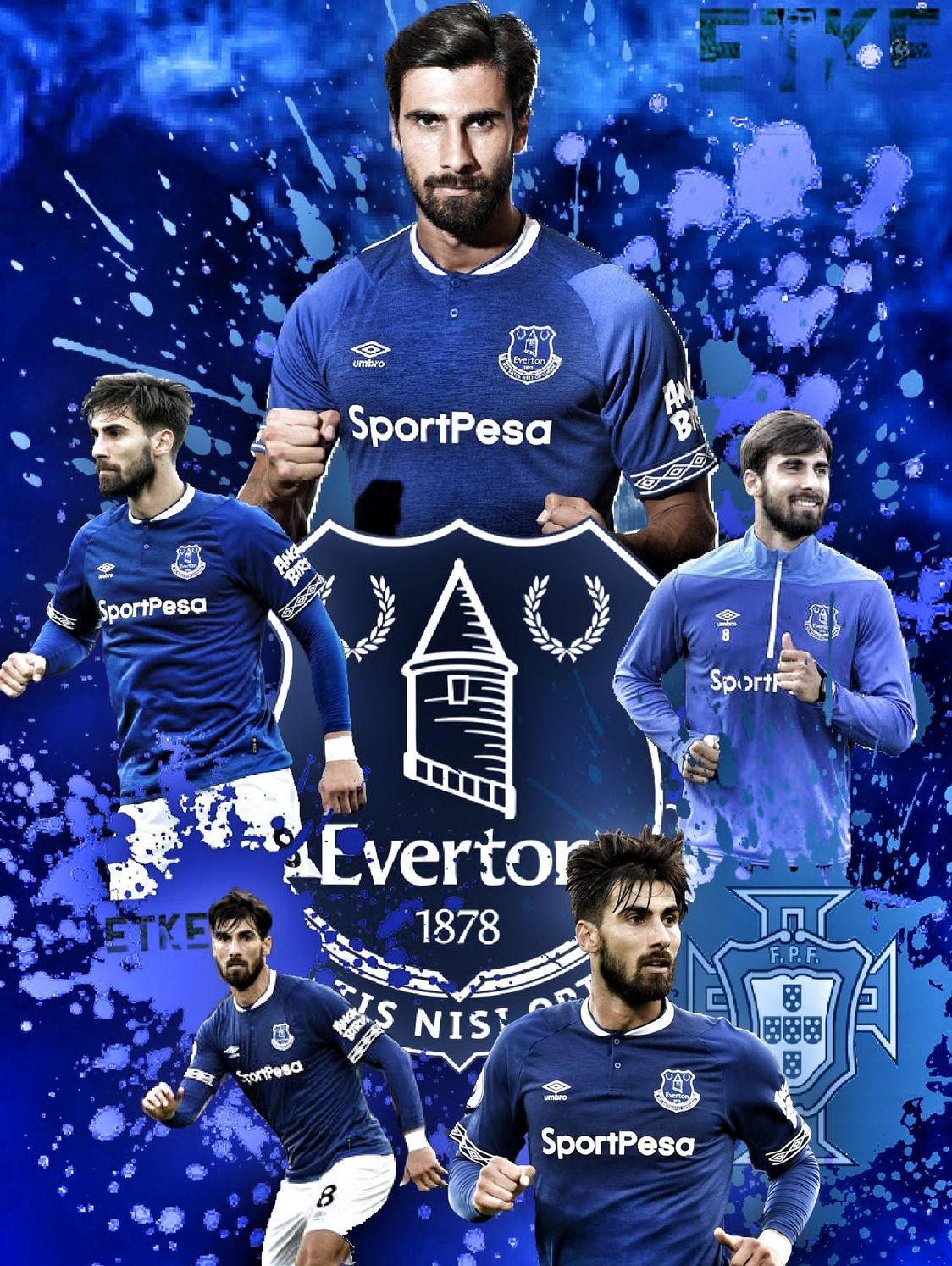 Andre Gomes Everton Etke Everton Football Club Soccer Images Everton