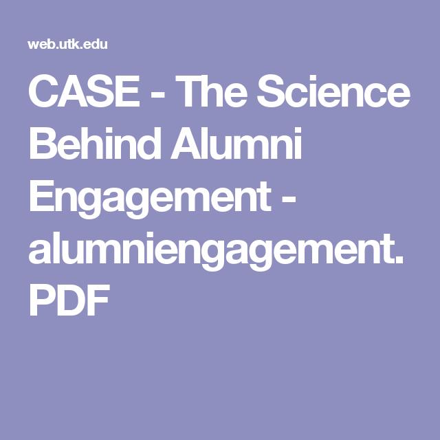 CASE - The Science Behind Alumni Engagement - alumniengagement.PDF