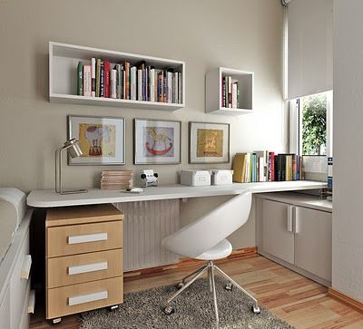 Dise os de oficinas peque as3 escritorios pinterest for Ideas oficinas pequenas