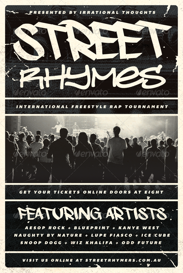 Street Rhymes  HipHop Flyer Template  Flyer Template Hip Hop