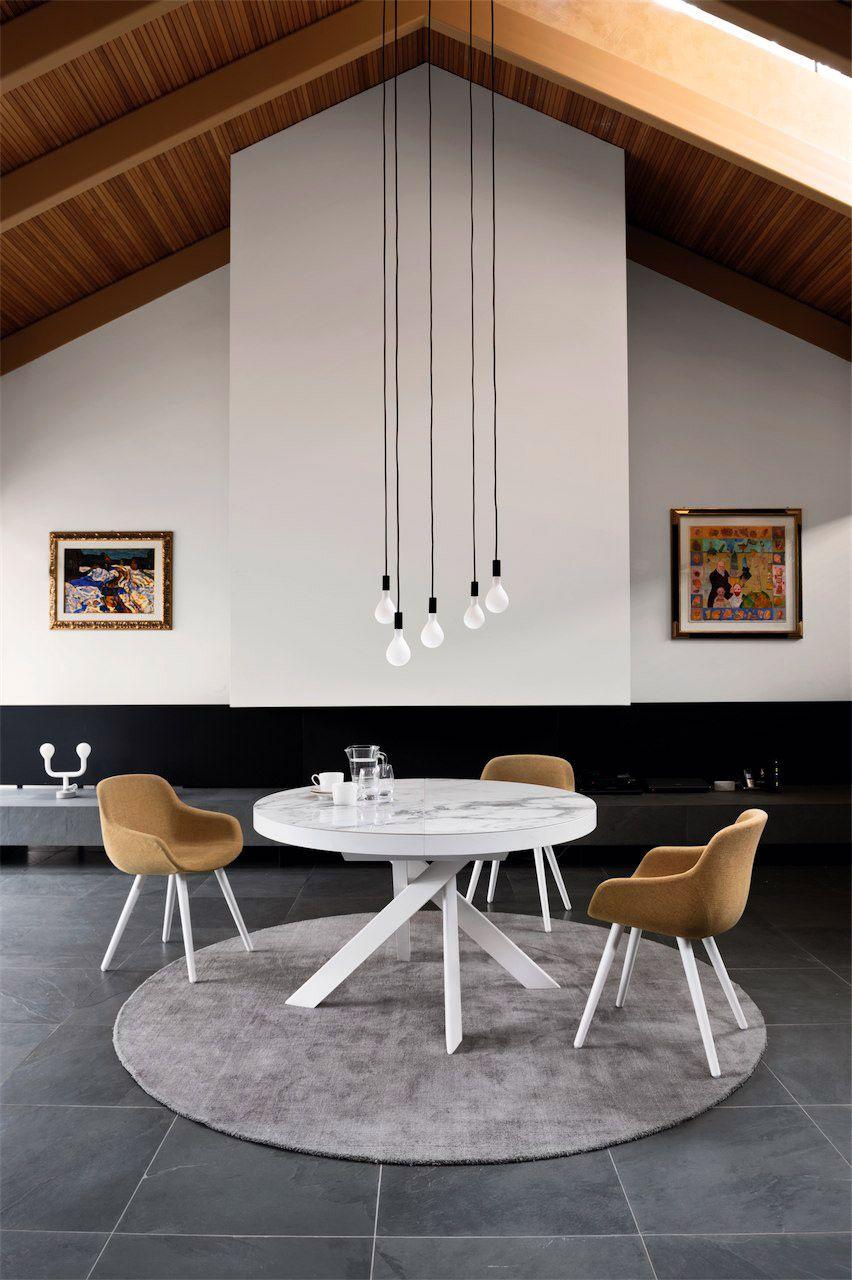 Calligaris tivoli extending dining table available in for Mobili italiani design