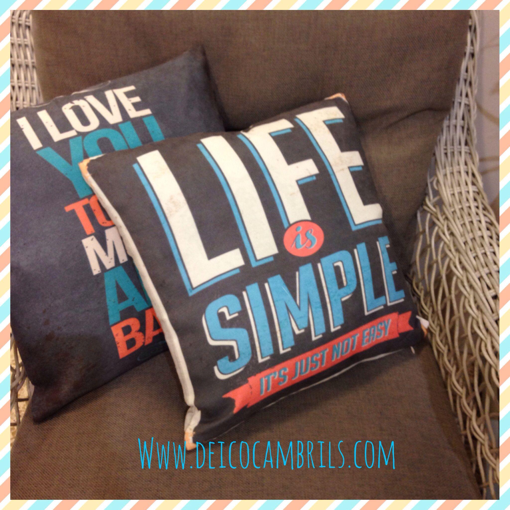 Cojines Con Texto En Muebles Deico Textil Pinterest Textos  # Cojines Para Muebles