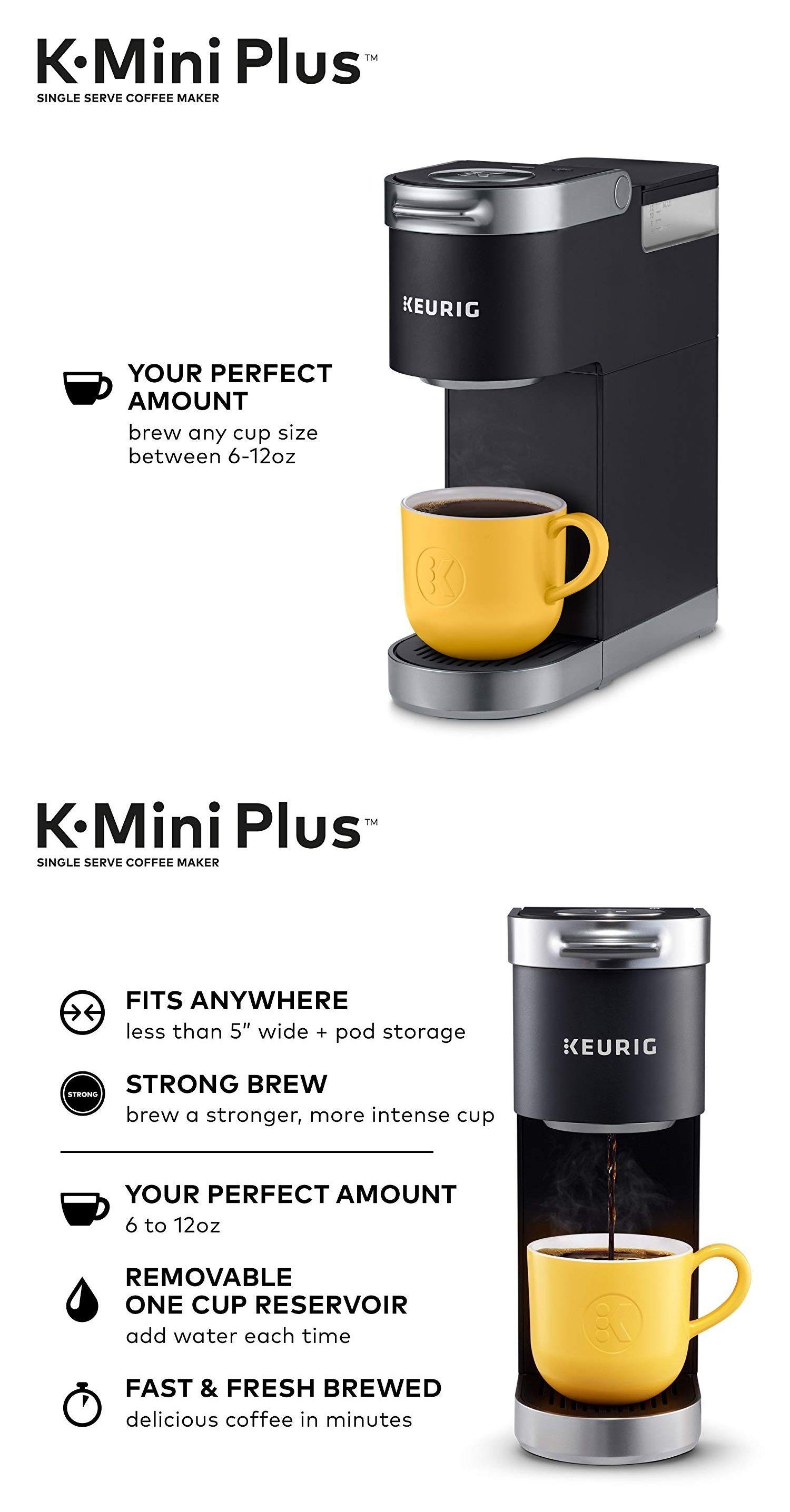 Keurig K10 Single Serve Brewer, Mini Plus Coffee, Tea
