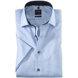 Photo of Olymp Luxor short sleeve shirt, modern fit, Global Kent, Bleu, 46 Olymp