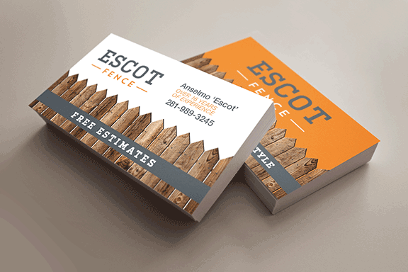 Escot fence business card designed printed by alphagraphics sugar escot fence business card designed printed by alphagraphics sugar land reheart Image collections