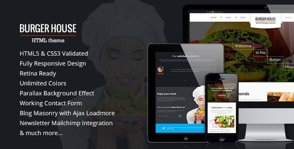 Burger House — Restaurant HTML Template | Website-Templates ...
