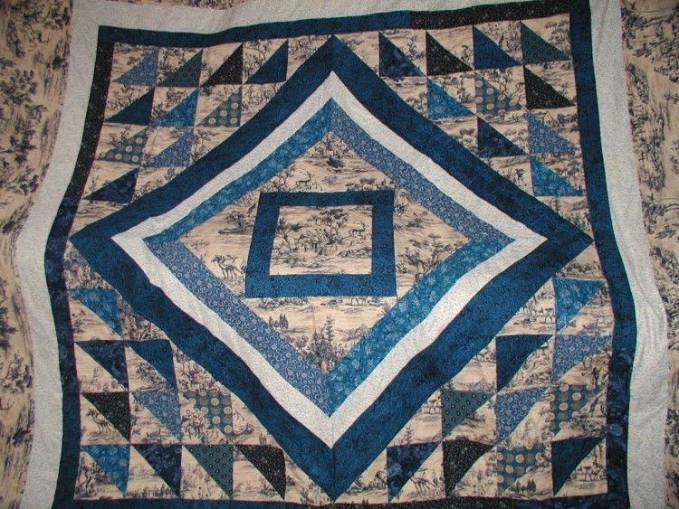 Keepsake Crafts   Blue Toile Quilt   ://keepsakecrafts.net ... : toile quilts - Adamdwight.com