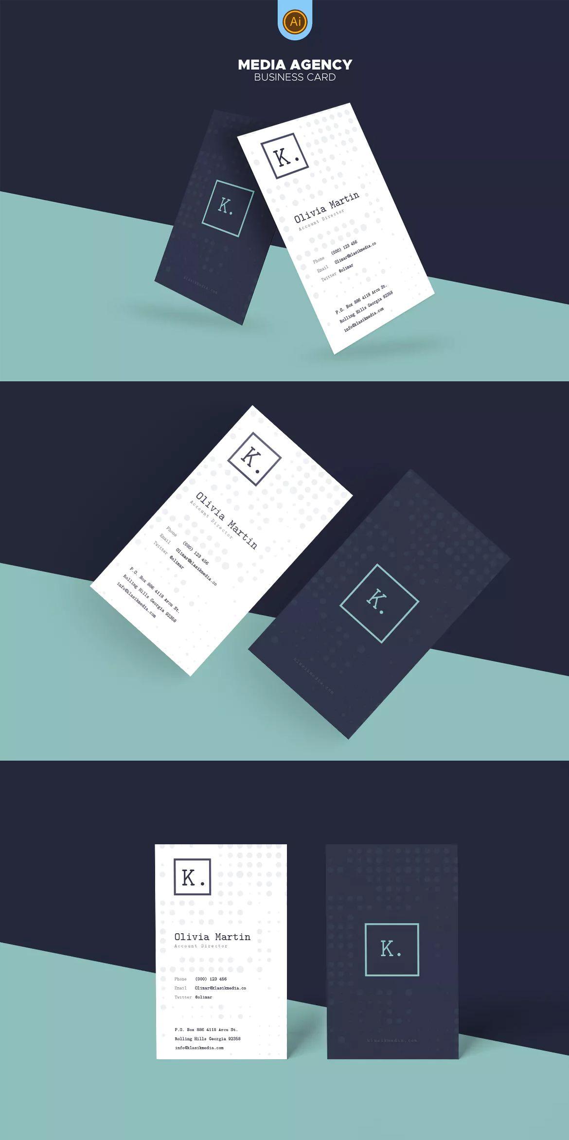Media Agency Business Card Template Ai Eps Dizajn Business