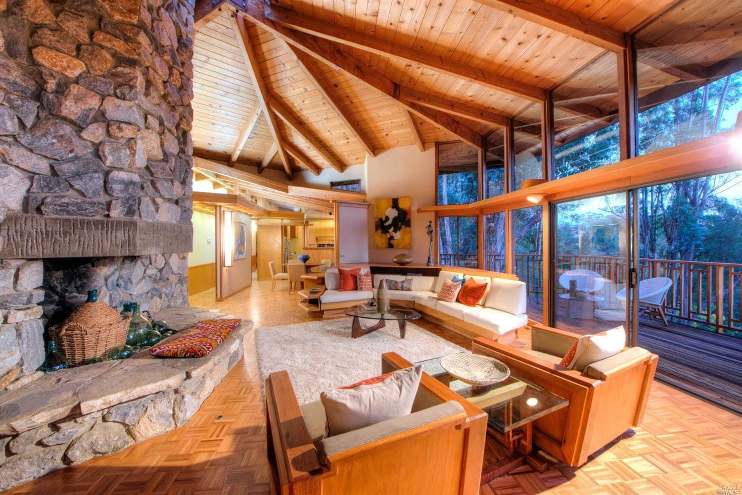 This 1968 Frank Lloyd Wright Inspired Home Is Mostly