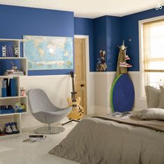 Dulux atlantic surf 2 natural calico on borders home for Dulux childrens bedroom ideas