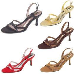 £34.49 Krystal Black, Bronze, Gold, Red Wedding Shoes 7cm