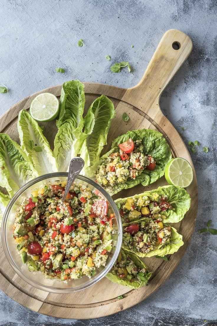 Quinoa Wrap Lettuce Avocado Vegan Gluten Free Gluten