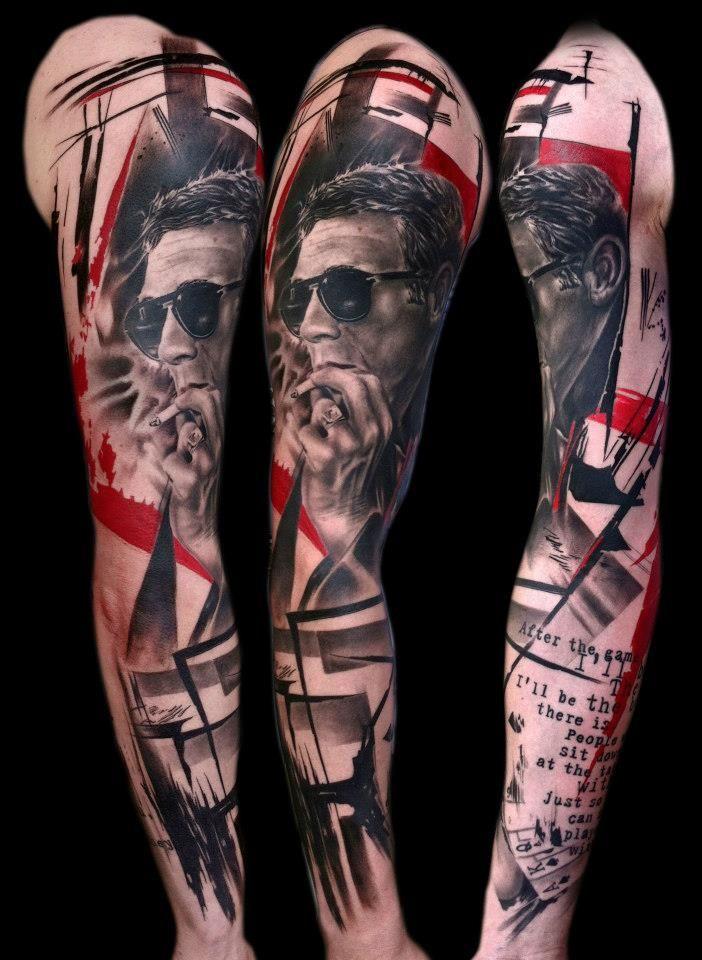 25++ Realistic trash polka style tattoo 2021 ideen