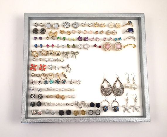 Silver Jewelry Tray OrganizerSilver by NeverLostEarrings on Etsy