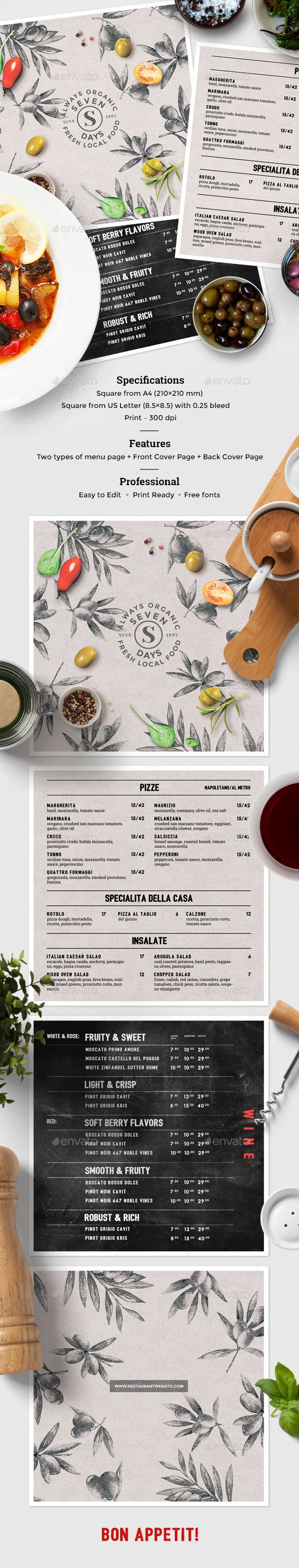 Italian Food Menu  Italian Food Menu Food Menu And Menu Templates