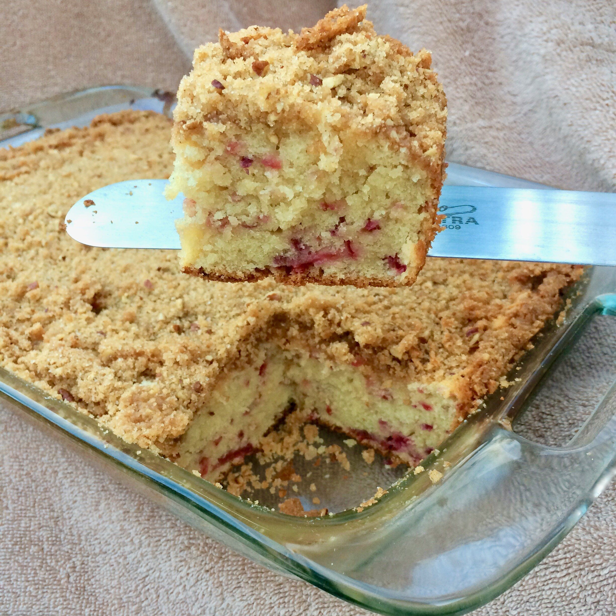 Cranberry Sour Cream Coffee Cake With Pecan Crumb Topping Recipe In 2020 Coffee Cake Sour Cream Coffee Cake Nut Dessert
