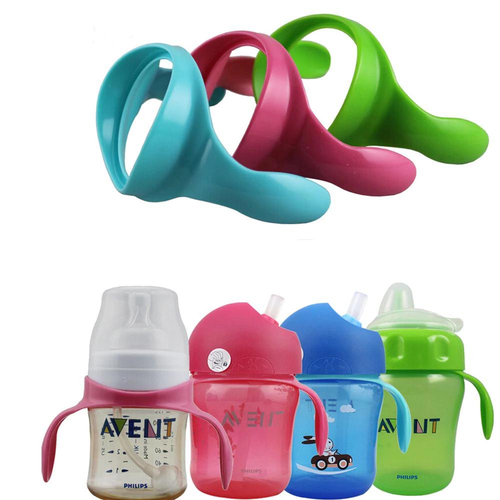 2 قطعة زجاجة تستخدم في الرضاعة مقابض ل الطبيعية واسعة الفم زجاجة تستخدم في الرضاعة عدم الانزلاق الطفل الرضيع م Baby Feeding Bottles Bottle Feeding Baby Bottles