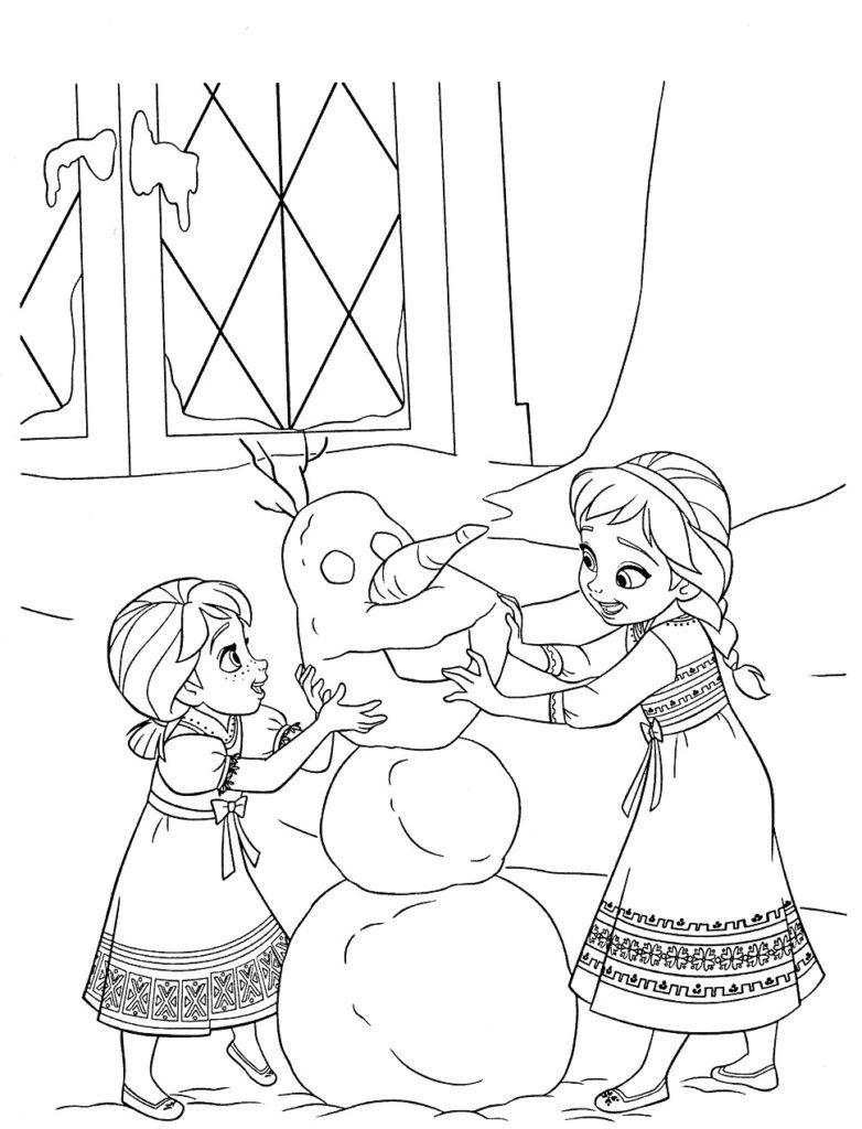 Elsa Coloring Pages Elsa Coloring Pages Snowman Coloring Pages
